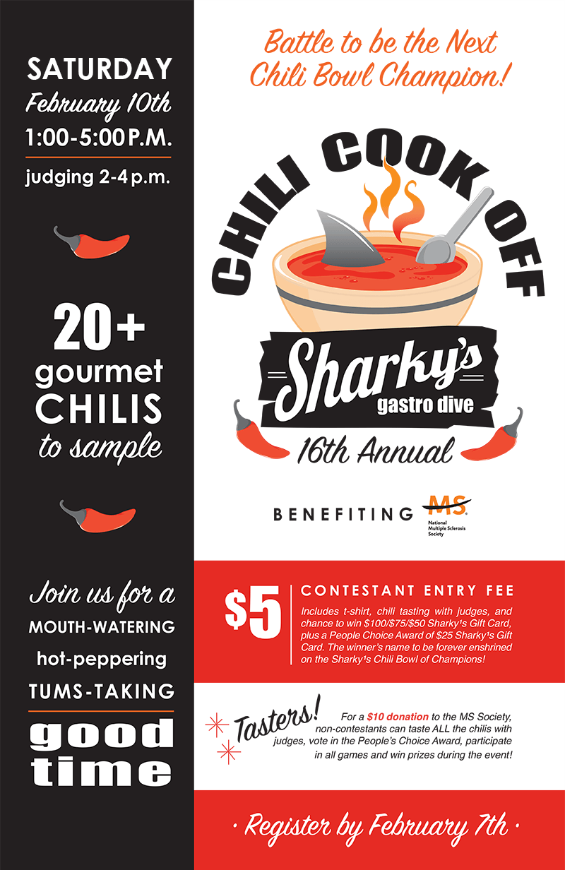 Sharky's 16th Annual Chili Cook-Off!
